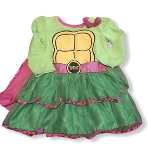 TMNT dress with cape
